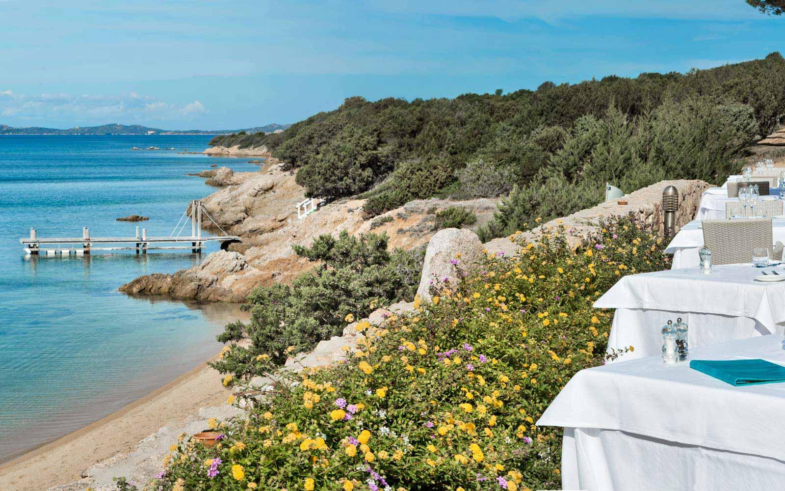 Restaurant front sea view at Hotel La Rocca Resort & Spa