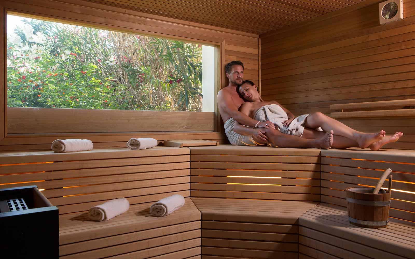 Sauna at Hotel La Rocca Resort & Spa