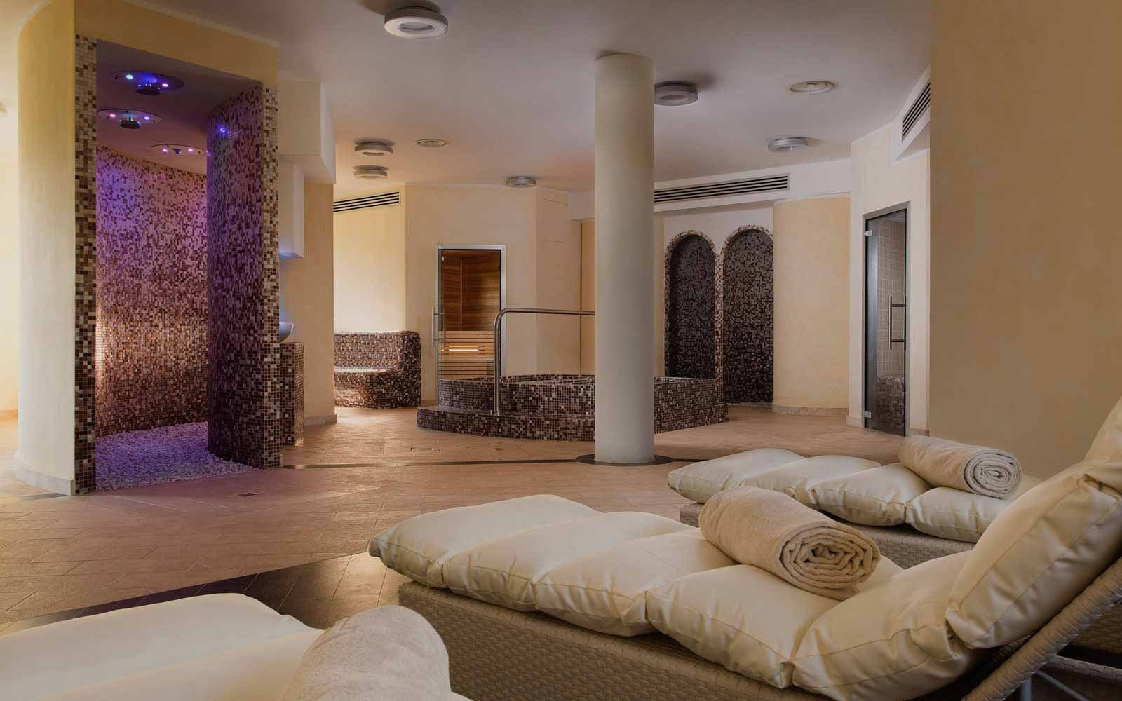 Spa relax area at Hotel La Rocca Resort & Spa