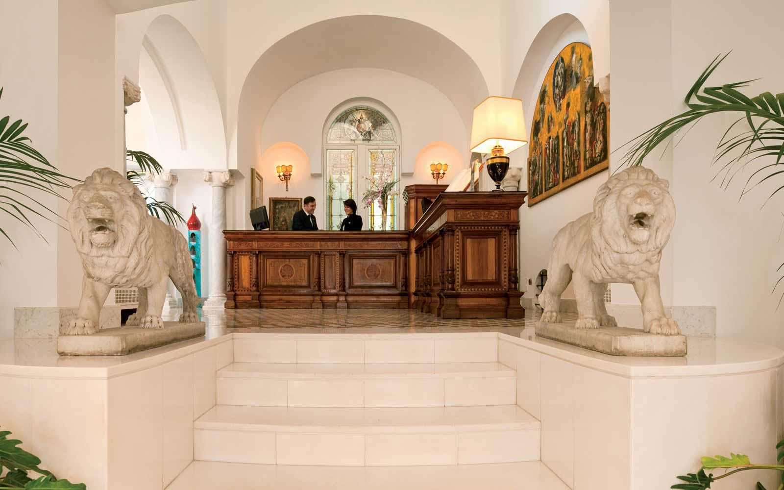 Reception at Palazzo Avino
