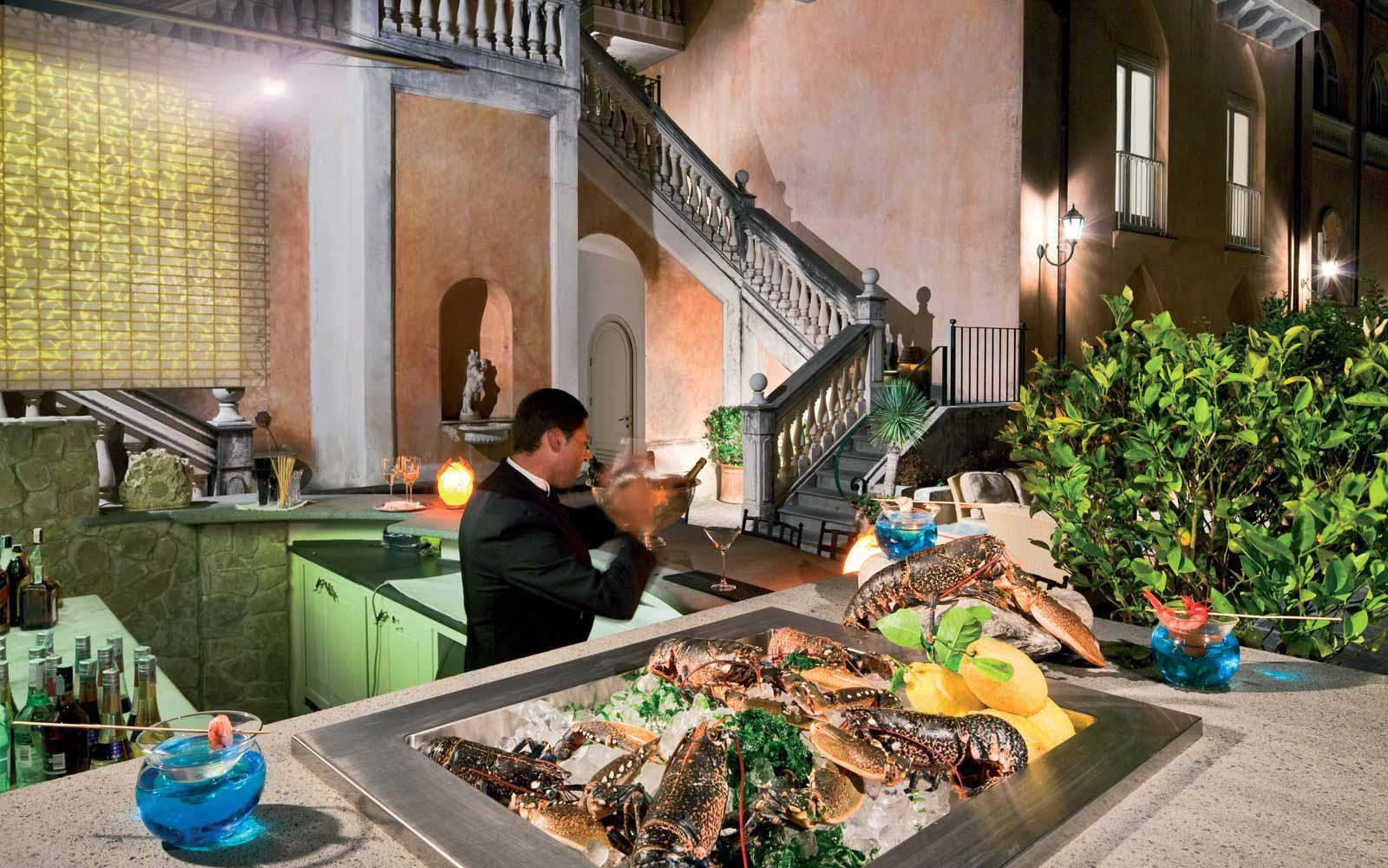Lobster and Martini Bar at Palazzo Avino