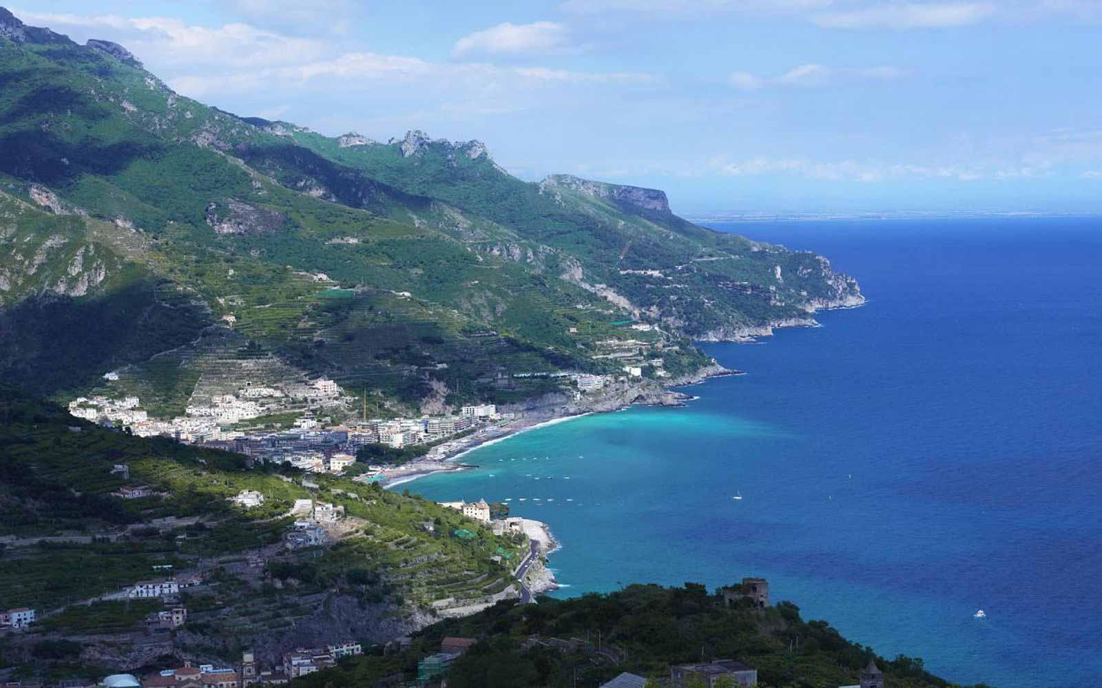 Coastline view from Palazzo Avino