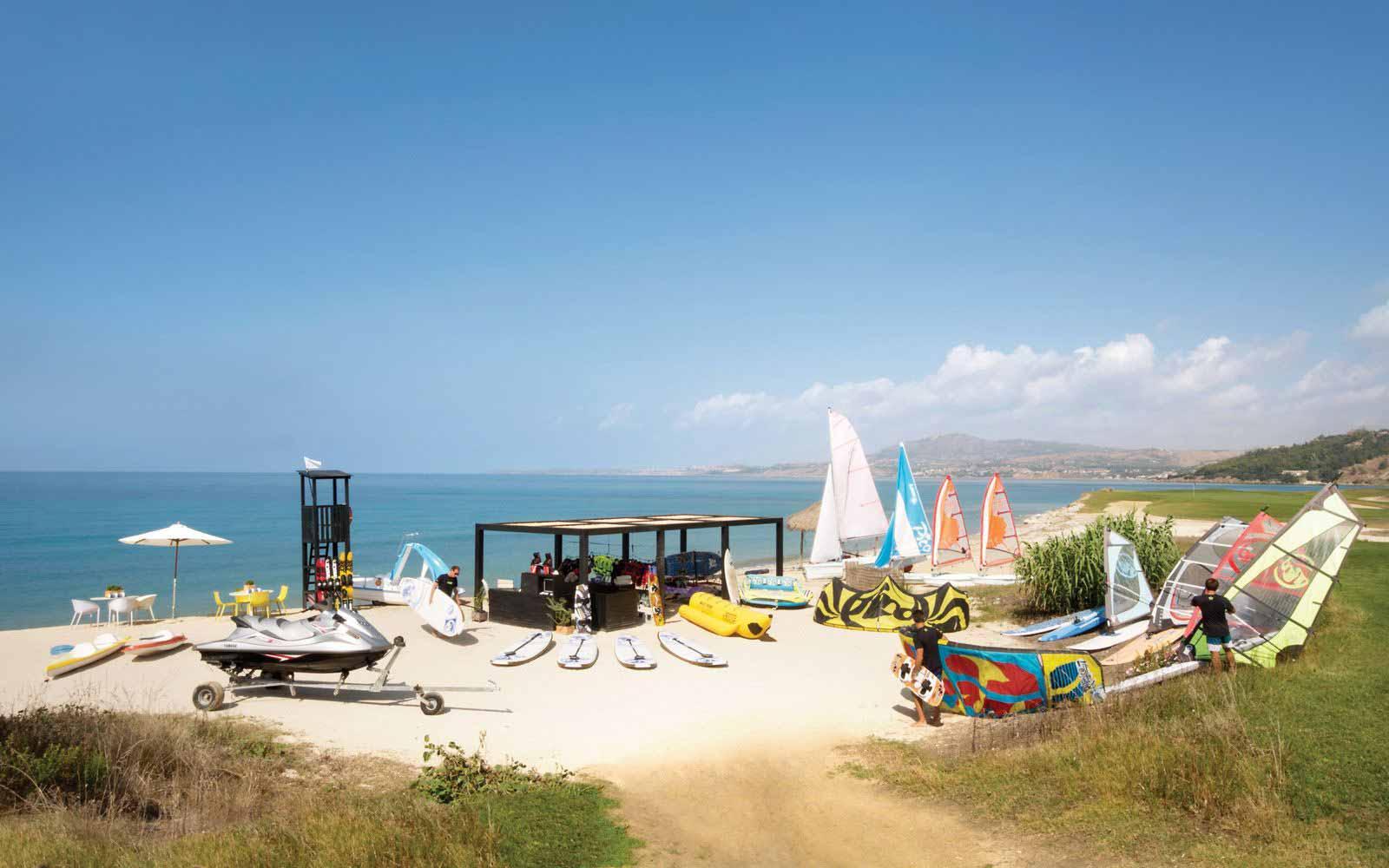 Water sport club at Verdura Resort