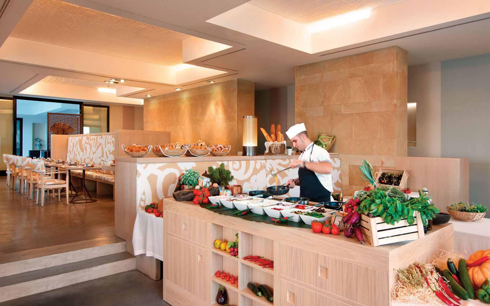Breakfast buffet at Verdura Resort