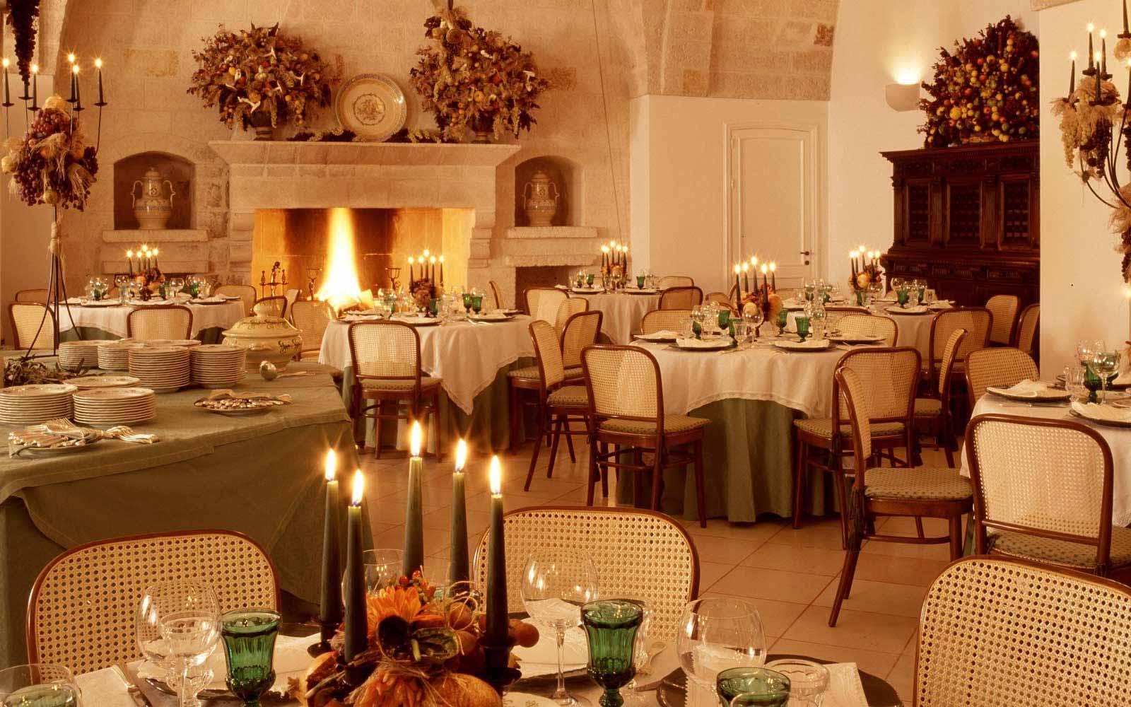 San Domenico restaurant at Masseria San Domenico