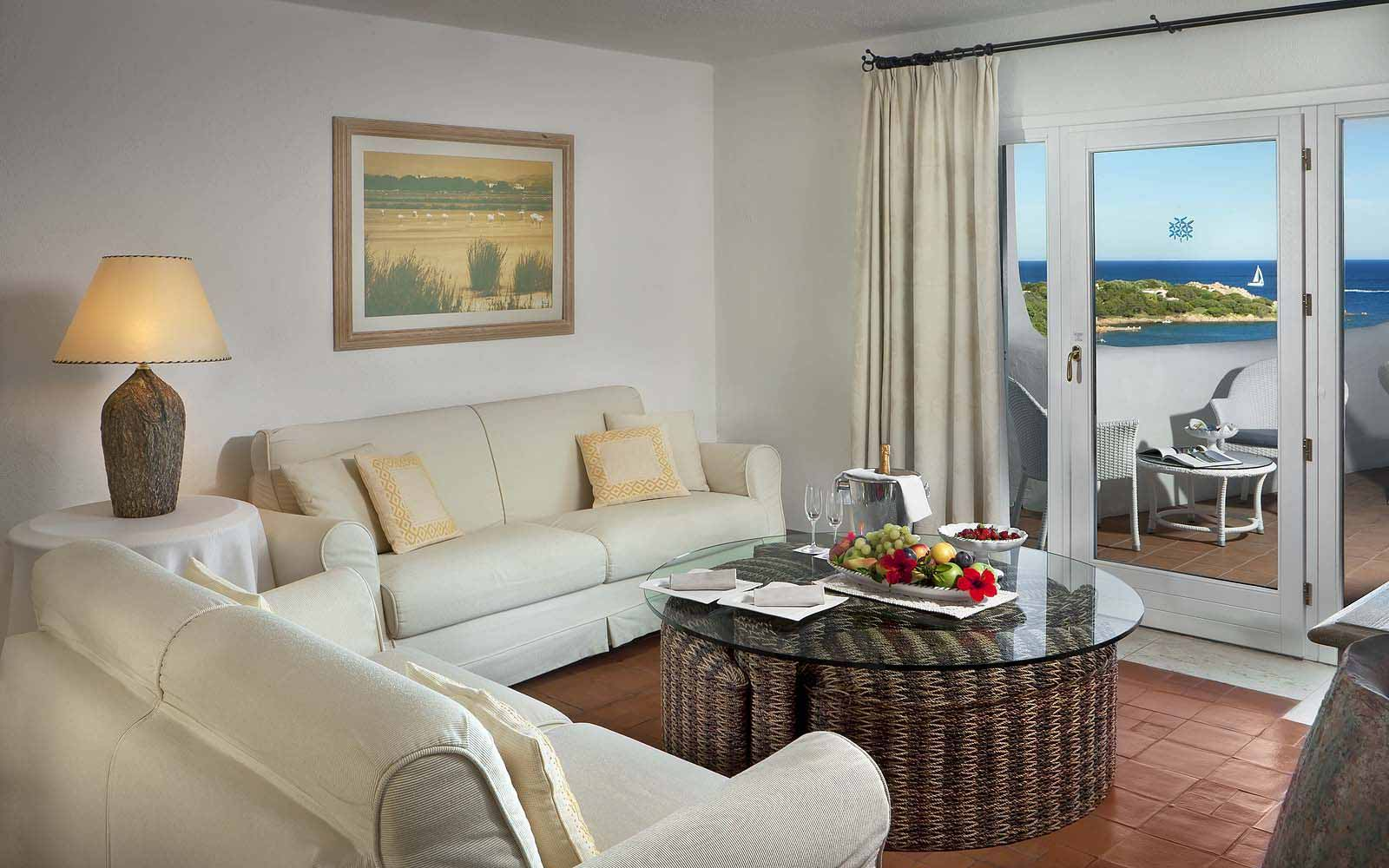 Presidential Suite's lounge at the Hotel Romazzino
