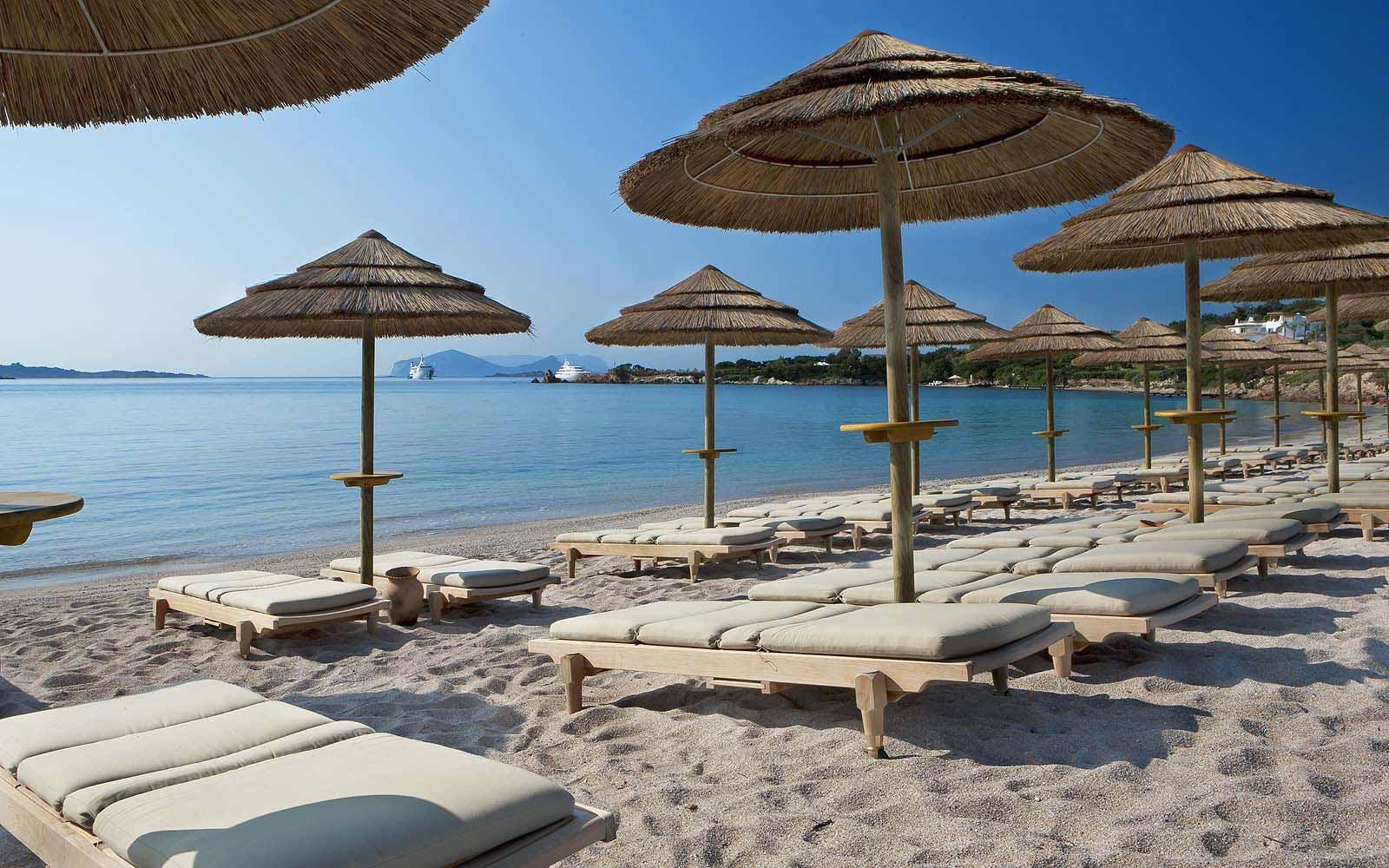 Beach at the Hotel Romazzino