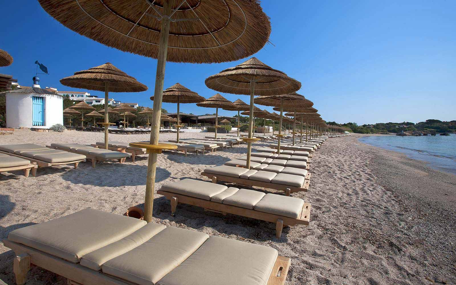 Beach at the Hotel Romazzino