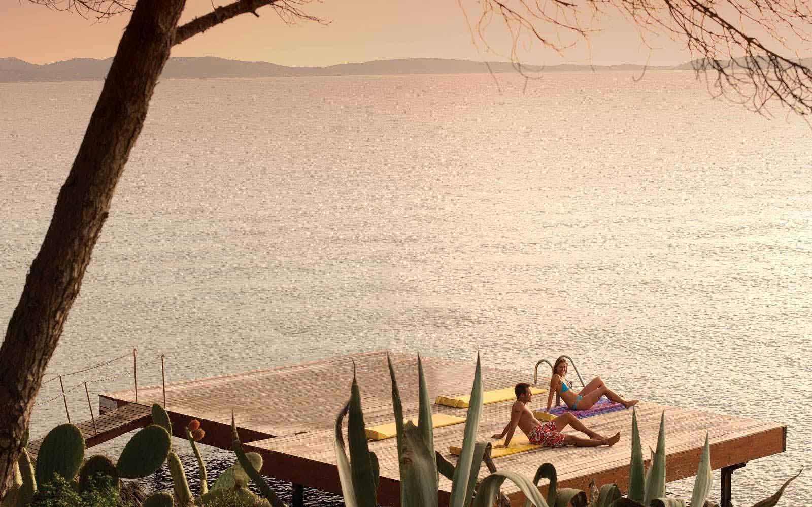 Sunbathing at Hotel Capo D'Orso Thalasso & Spa