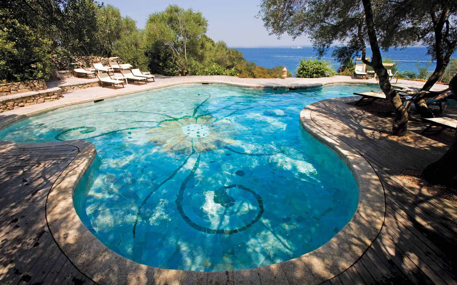 Pool at Hotel Capo D'Orso Thalasso & Spa