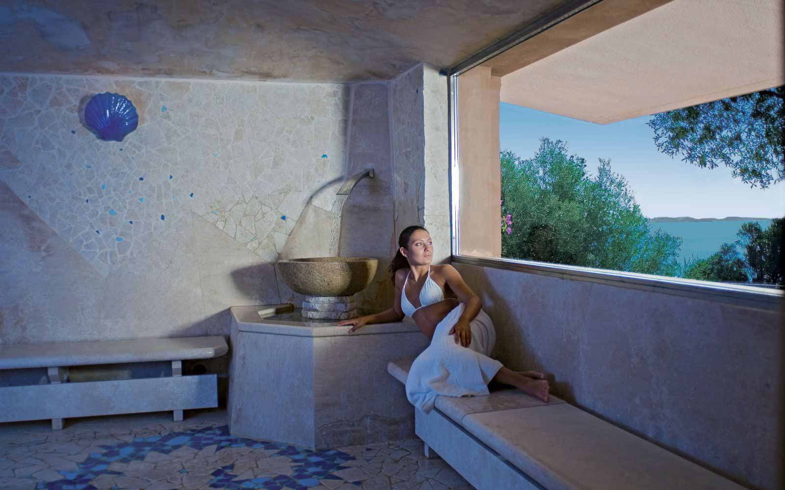 Turkish bath at Hotel Capo D'Orso Thalasso & Spa
