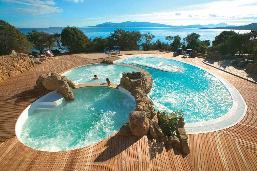 Outdoor Thalasso Pool at Hotel Capo d'Orso