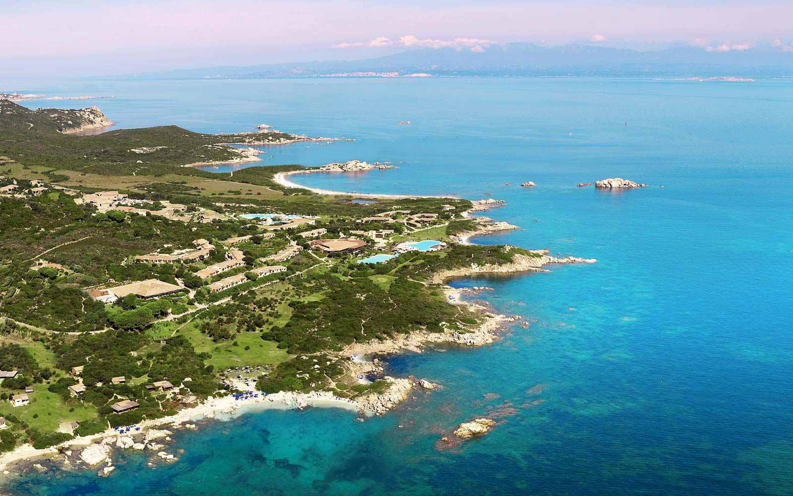 Aerial view over Resort Valle Dell'Erica Thalasso & Spa