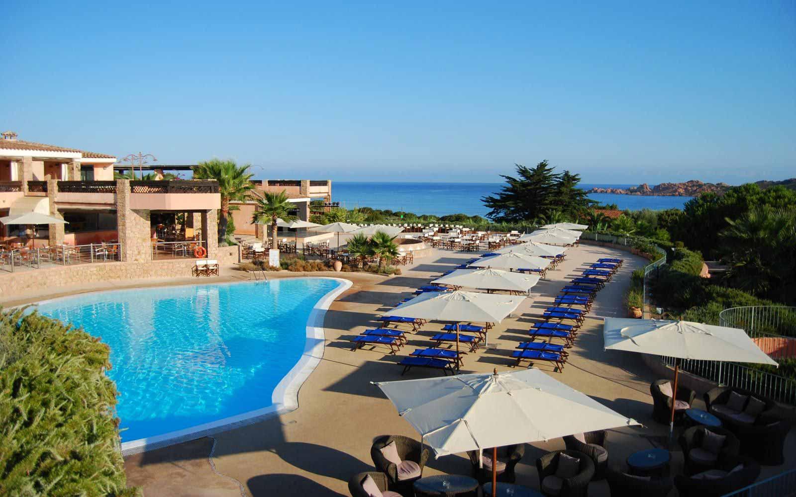 Lower swimming pool at Hotel Marinedda Thalasso & Spa