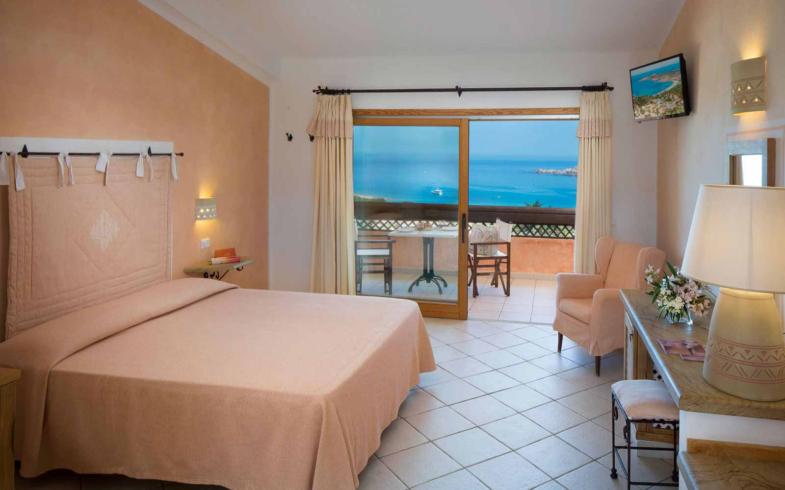 Classic room sea view at Hotel Marinedda Thalasso & Spa