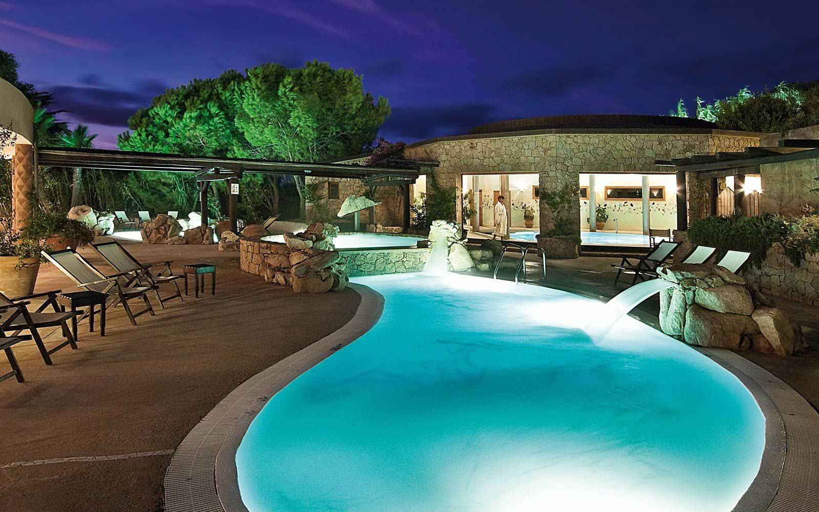 Wellness swimming pool at Hotel Marinedda Thalasso & Spa