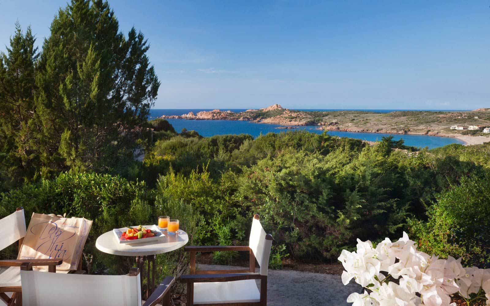 Relax veranda at Hotel Marinedda Thalasso & Spa