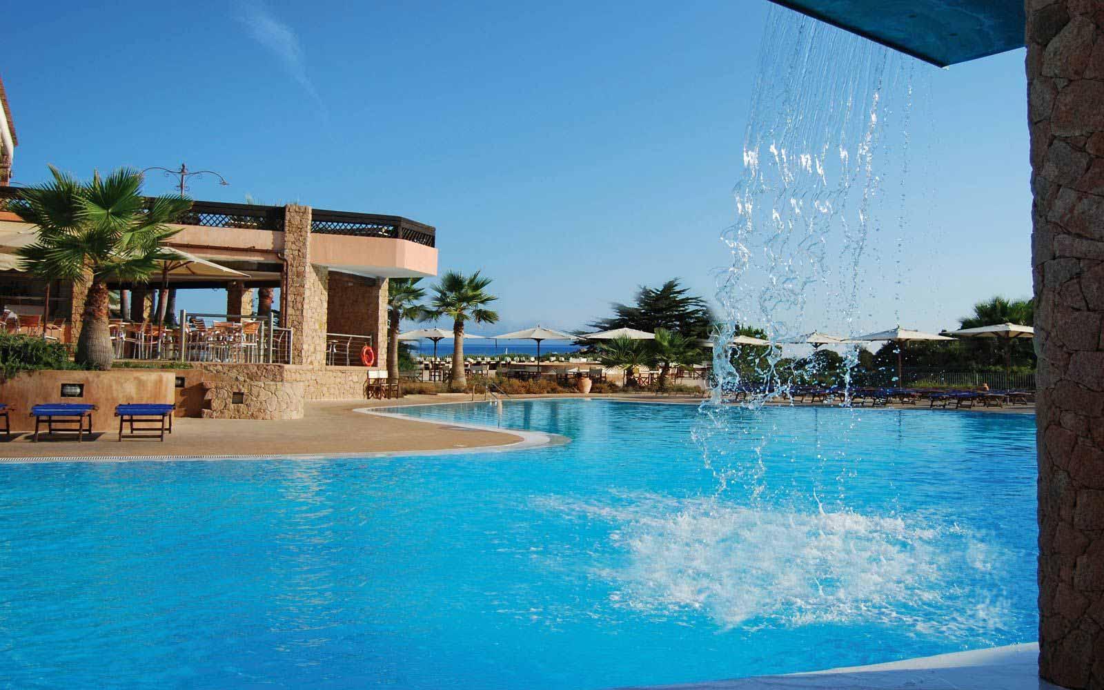 Inferior swimming pool at Hotel Marinedda Thalasso & Spa