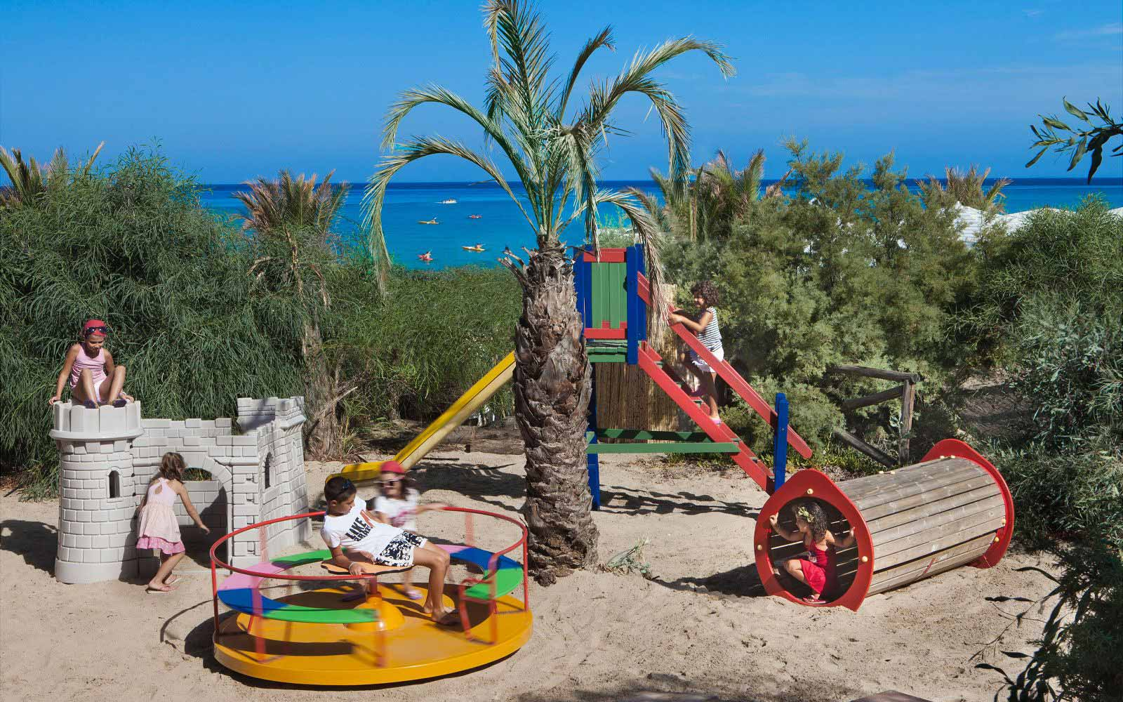 Children playground at Hotel Le Rocce