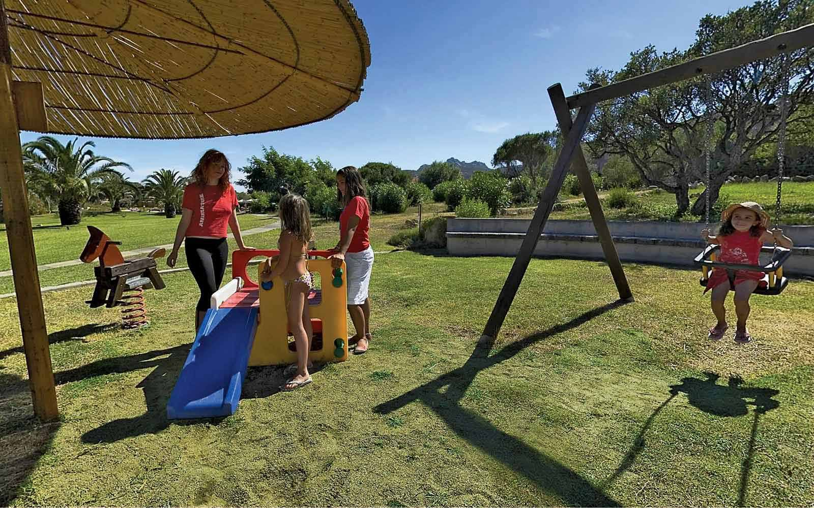 Children playground at Resort Cala Di Falco La Rotonda Residence