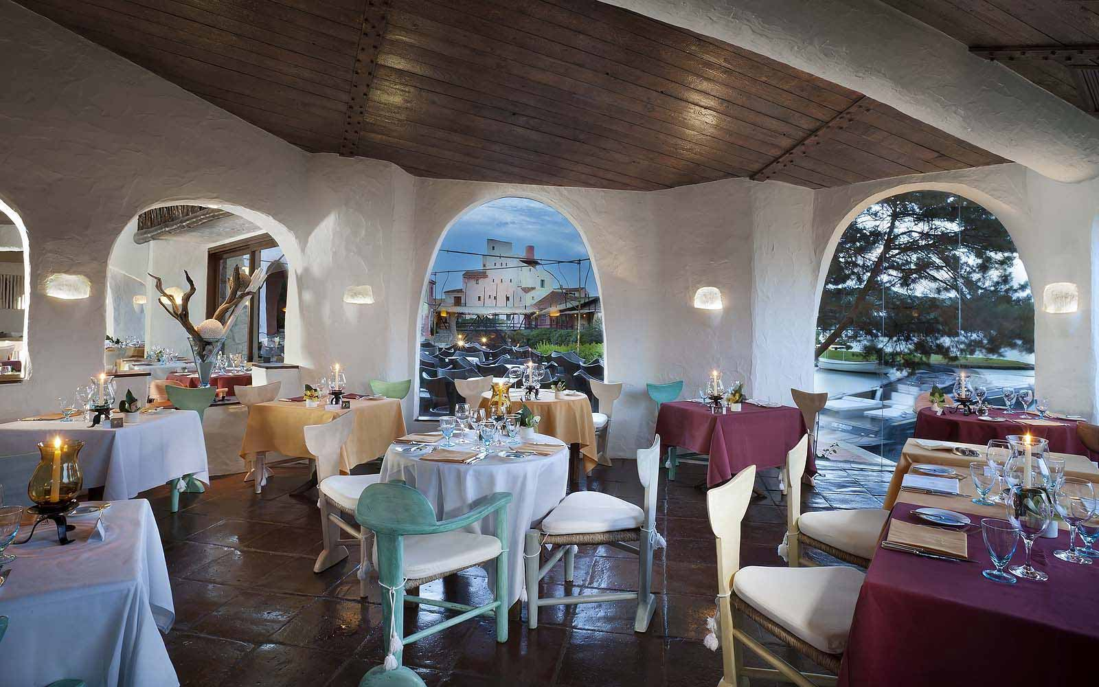 Main Restaurant at the Hotel Cala di Volpe