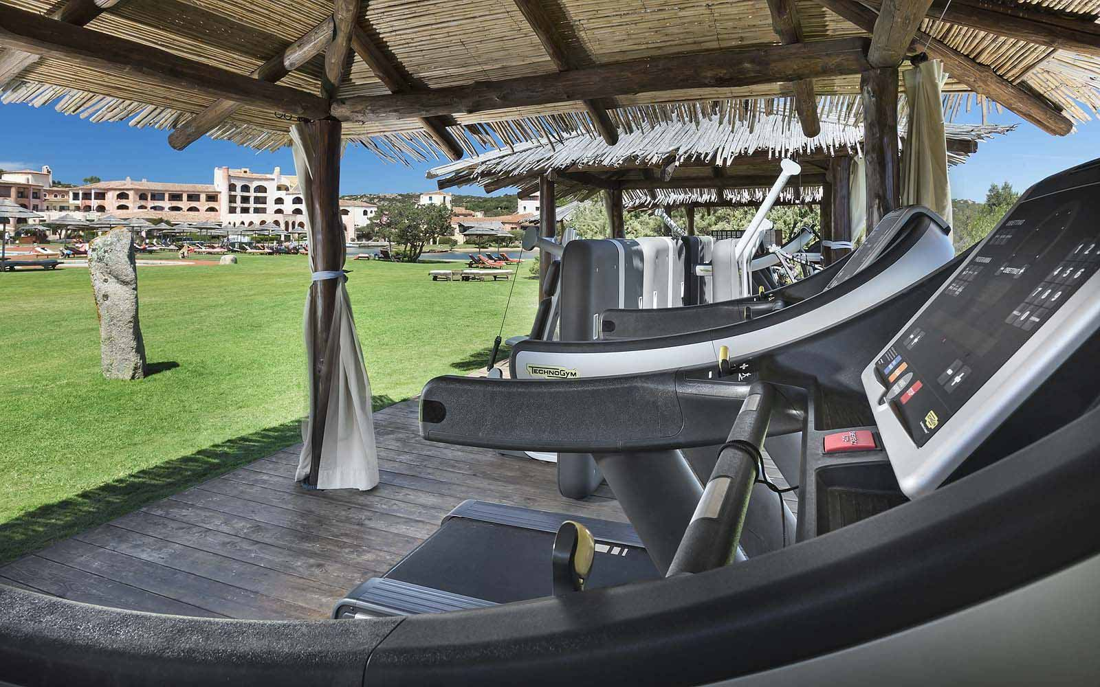 Outdoor gym at the Hotel Cala di Volpe