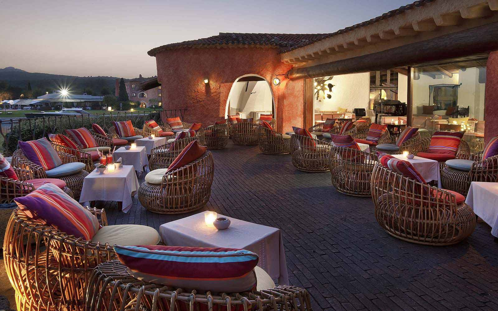Terrace of the Bar Il Pontile at the Hotel Cala di Volpe