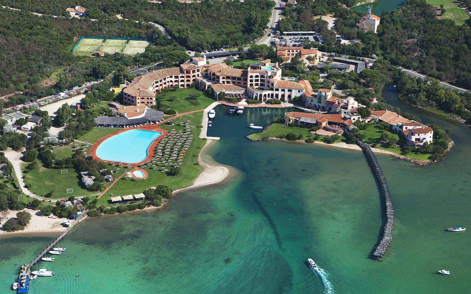 Panoramic view of the Hotel Cala di Volpe