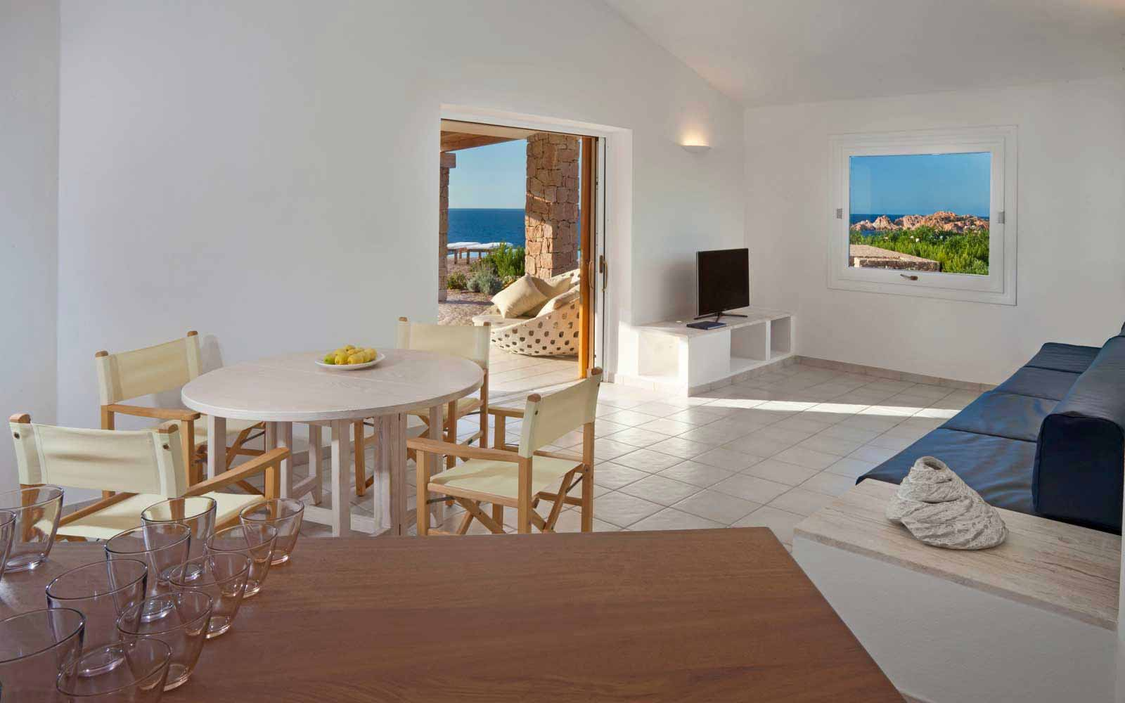 Living area of Torre Canneddi at Torreruja Villas