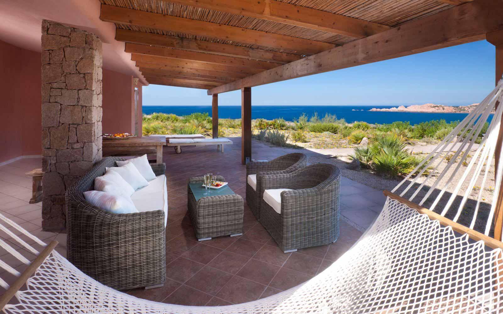 Private terrace Olivastri at Torreruja Villas