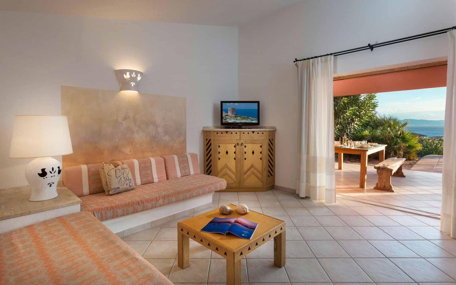 Living room at Torreruja Villas