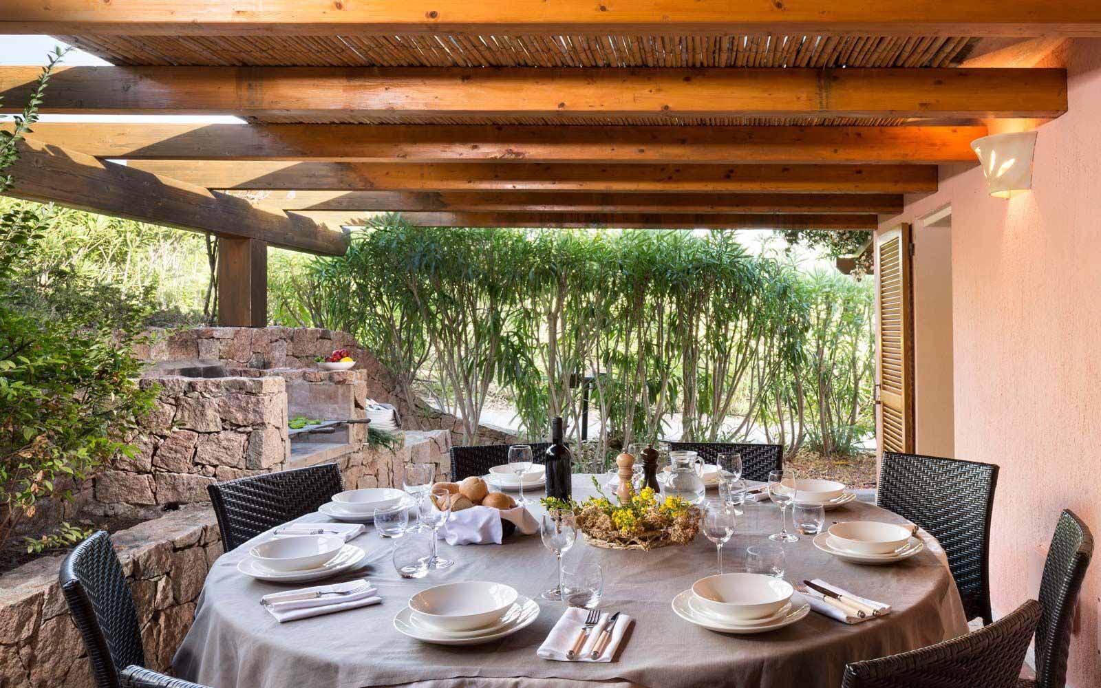 Rear veranda at Torreruja Villas