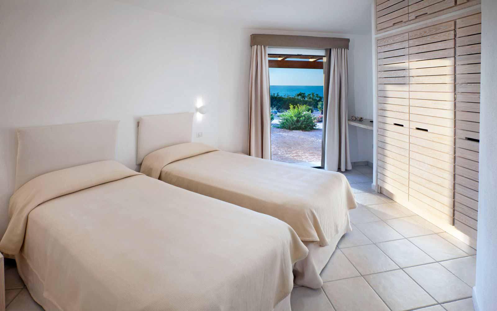 Torre Canneddi's twin room at Torreruja Villas