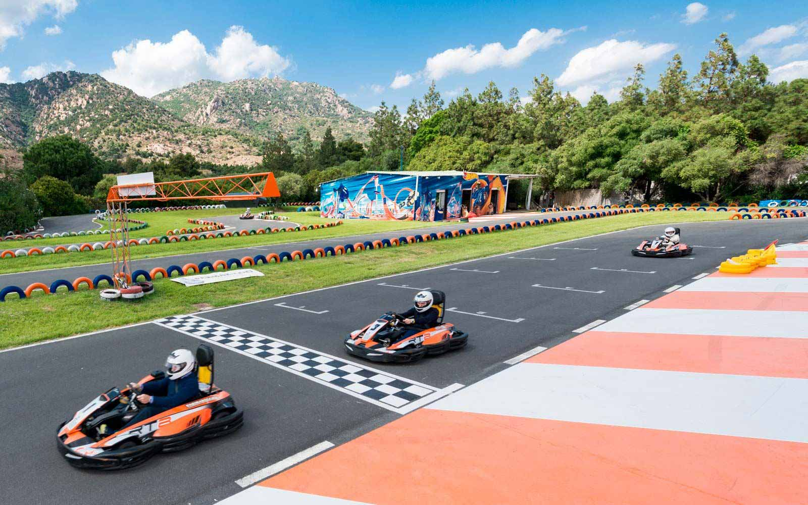 Go-kart at the Forte Village Resort
