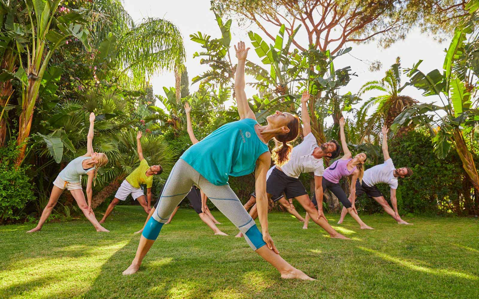 Yoga lessons at the Forte Village Resort