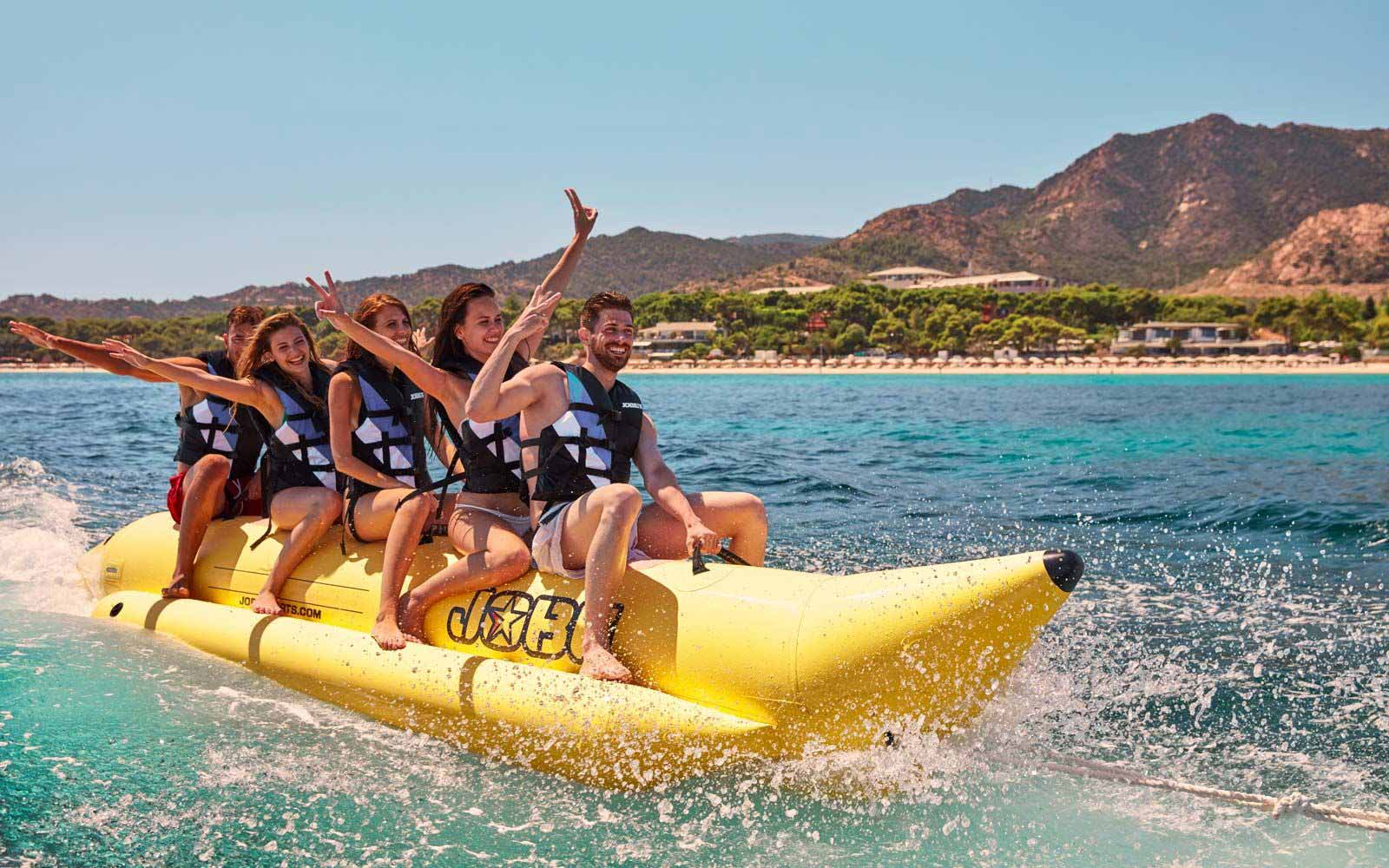 Watersports activities at the Forte Village Resort