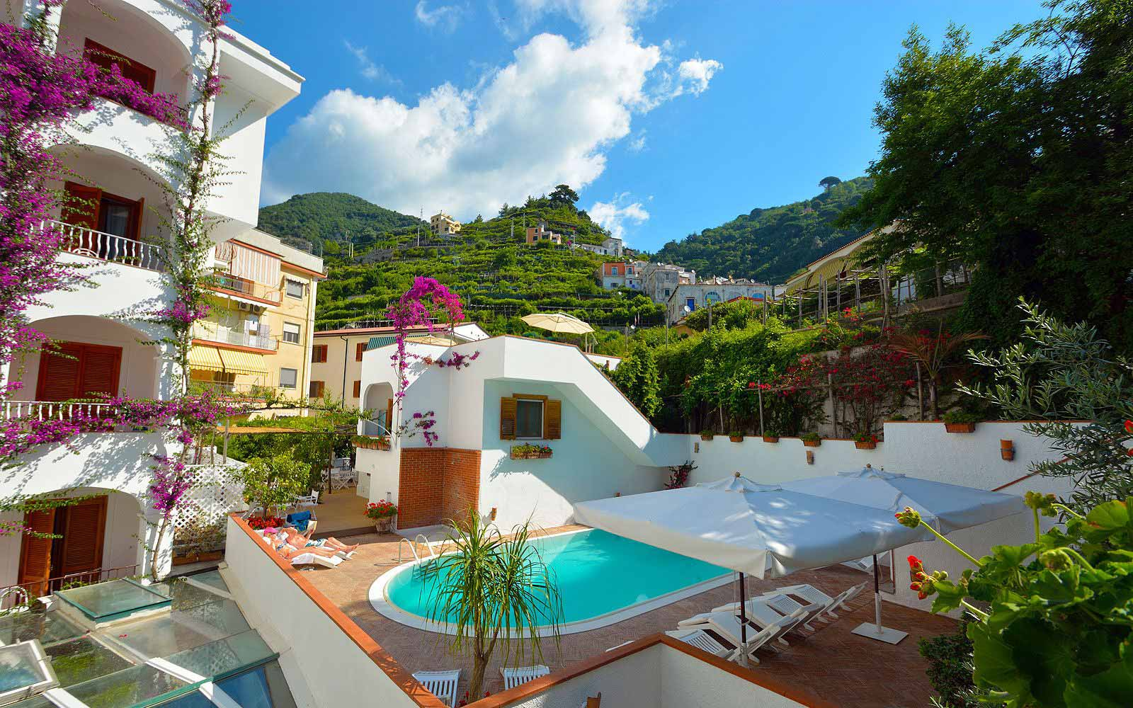 Landscape views at Hotel Villa Romana