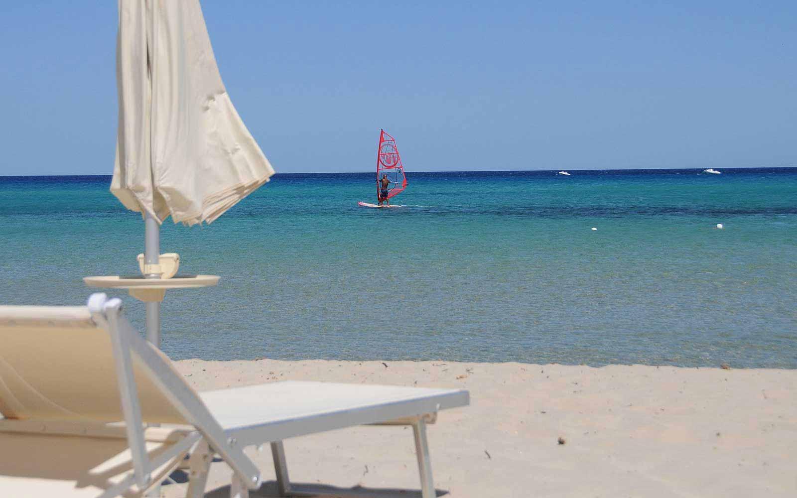 View from beach at Hotel Villas Resort
