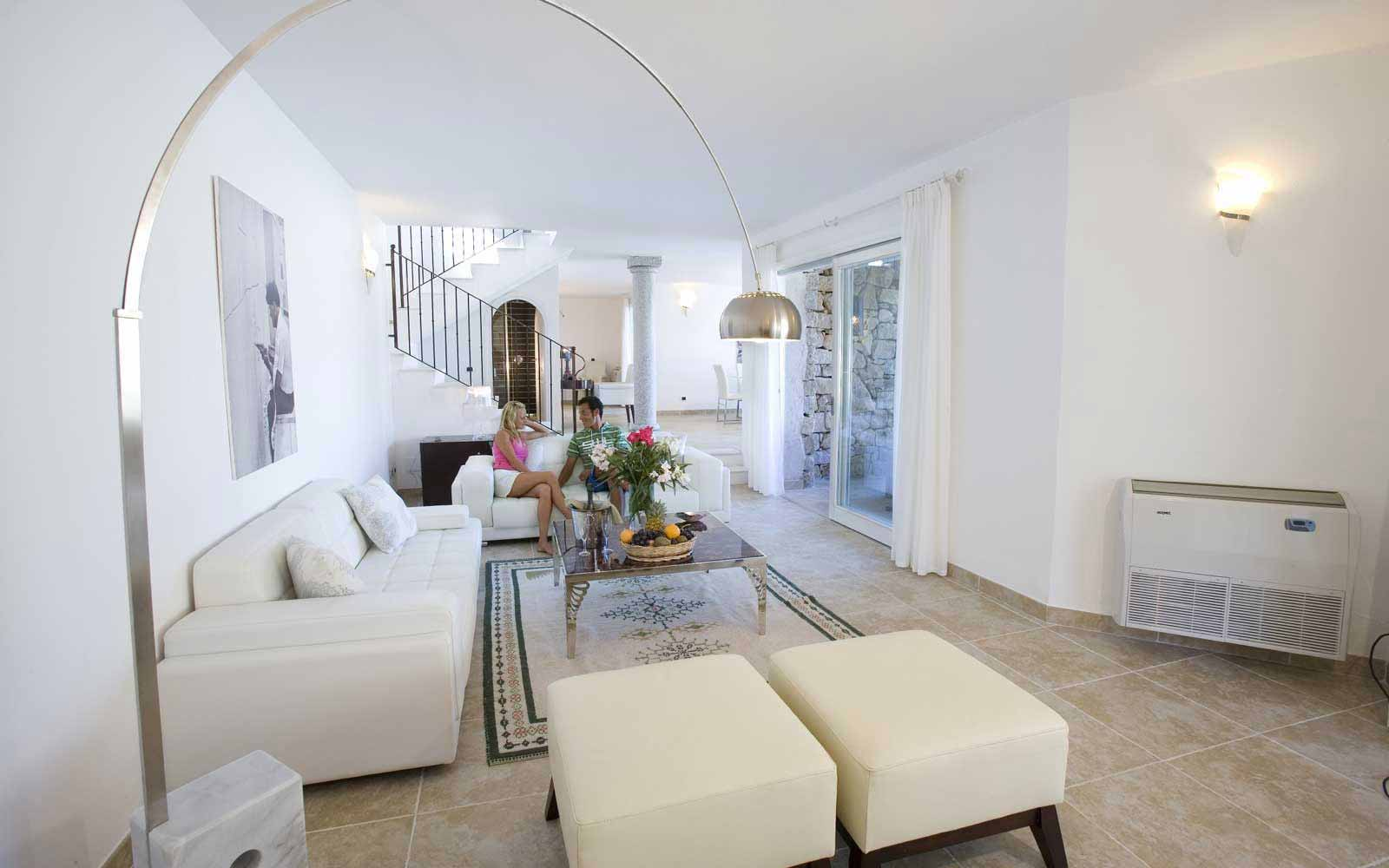 3 bedroom Villa Quercia's lounge at Hotel Villas Resort - Villas