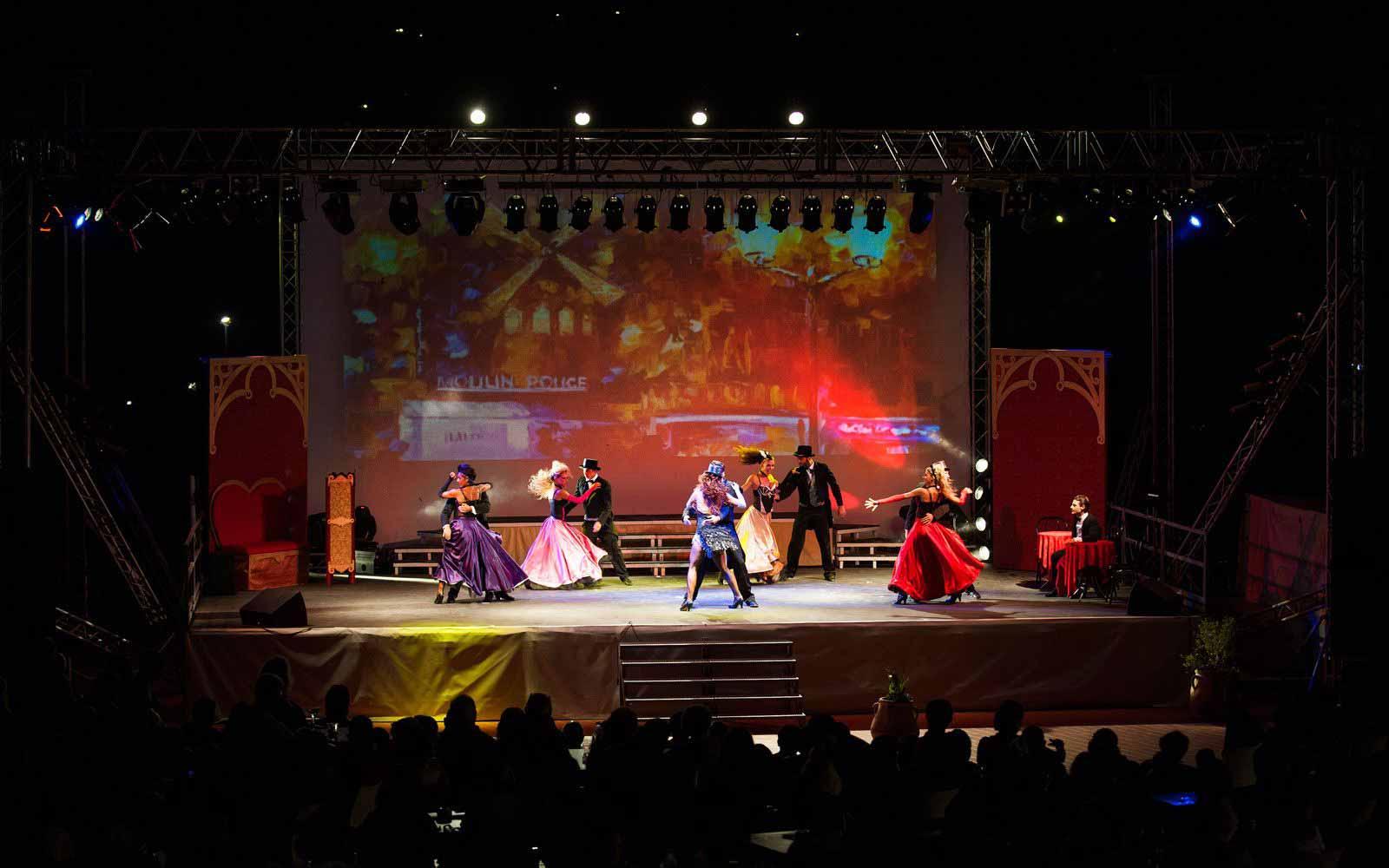 Evening entertainment at the Chia Laguna Resort