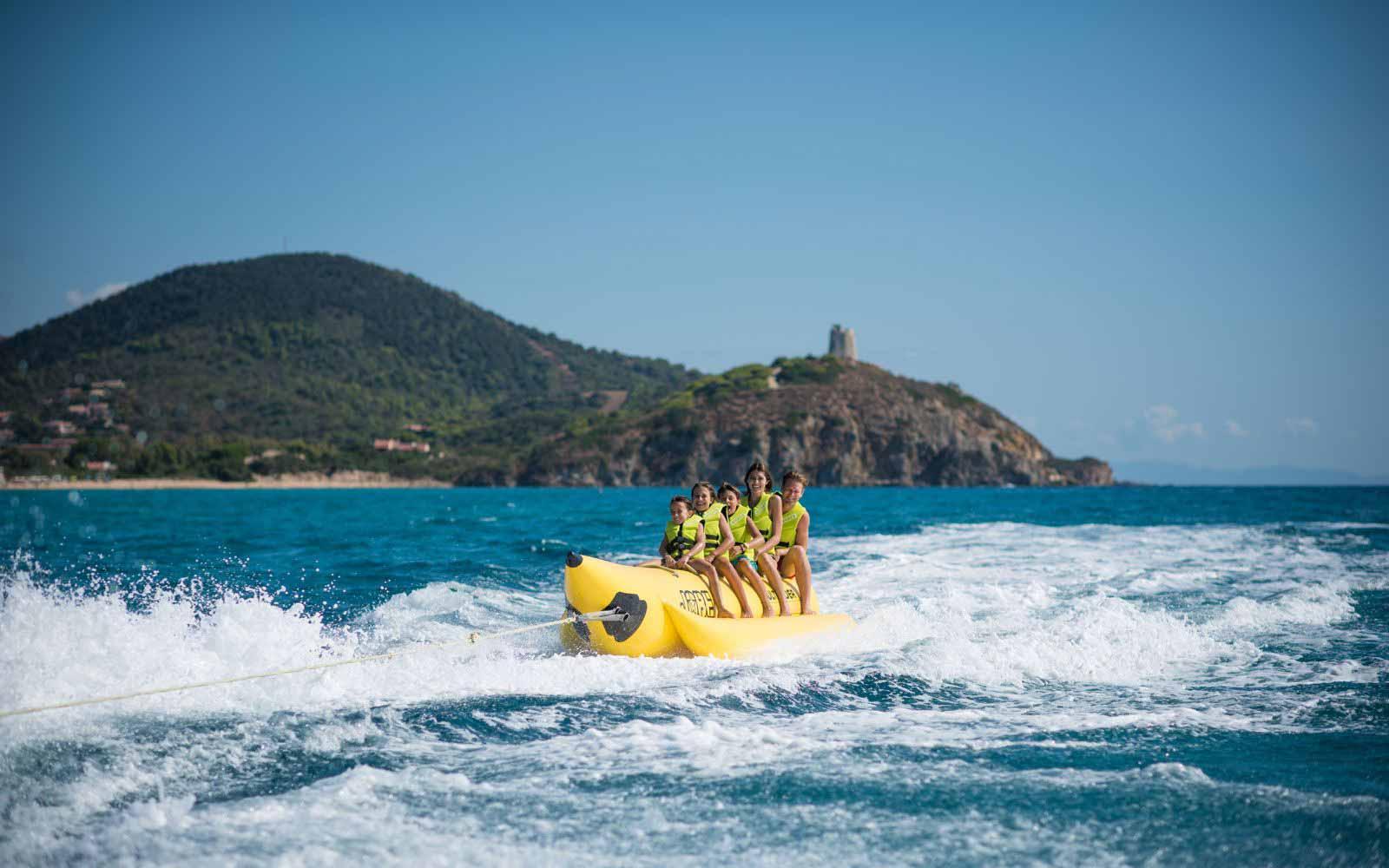 Water Sports at the Chia Laguna Resort