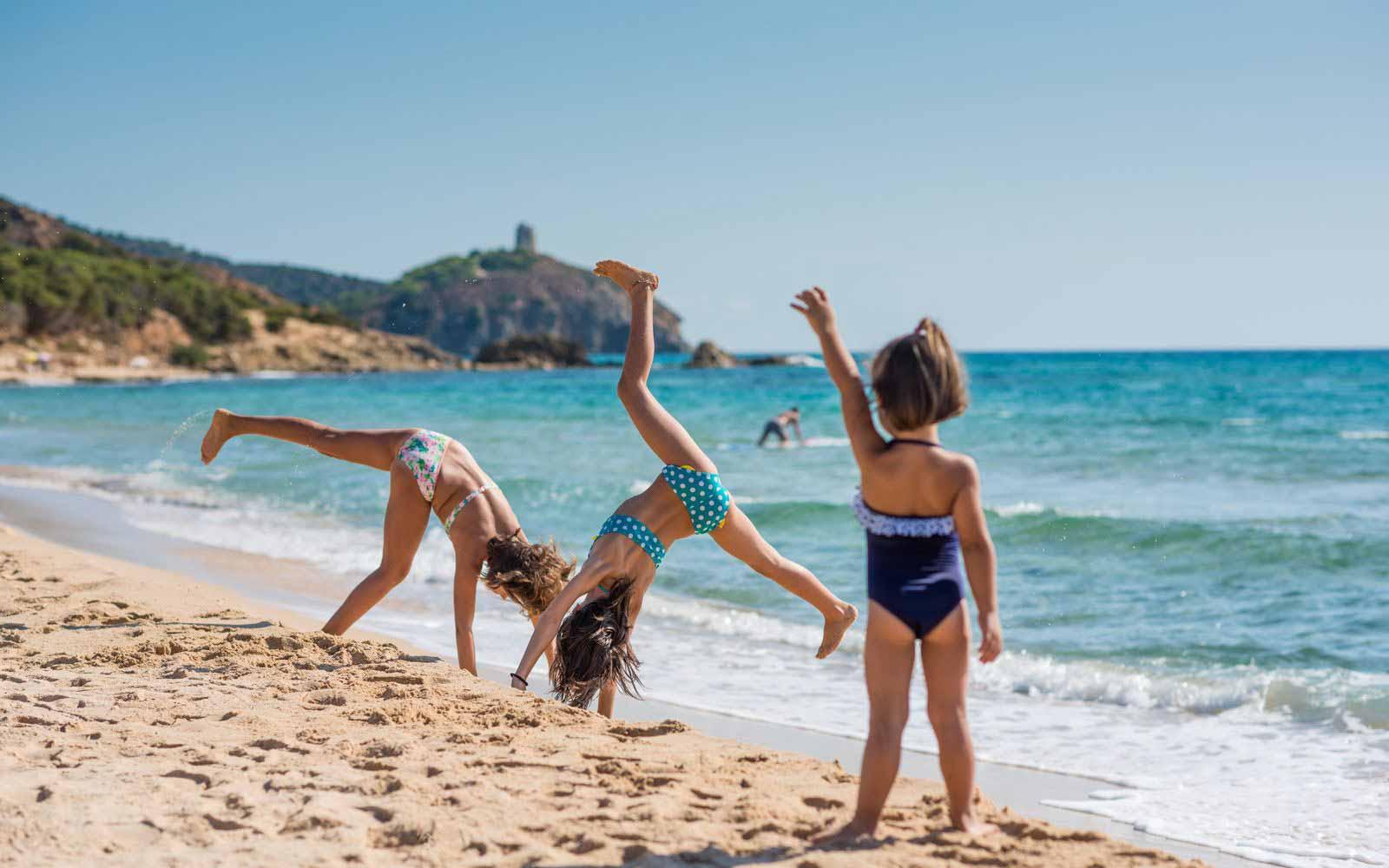 Kids at the Chia Laguna Resort