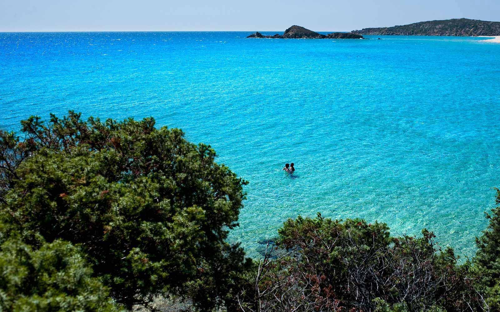 Beautiful sea at the Chia Laguna Resort