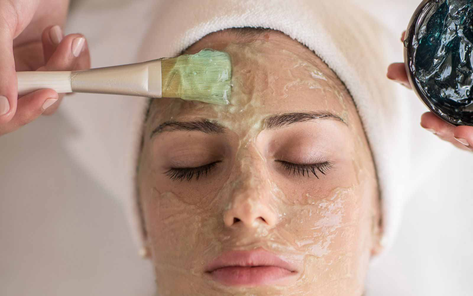 Face treatment at the Spa of Chia Laguna Resort