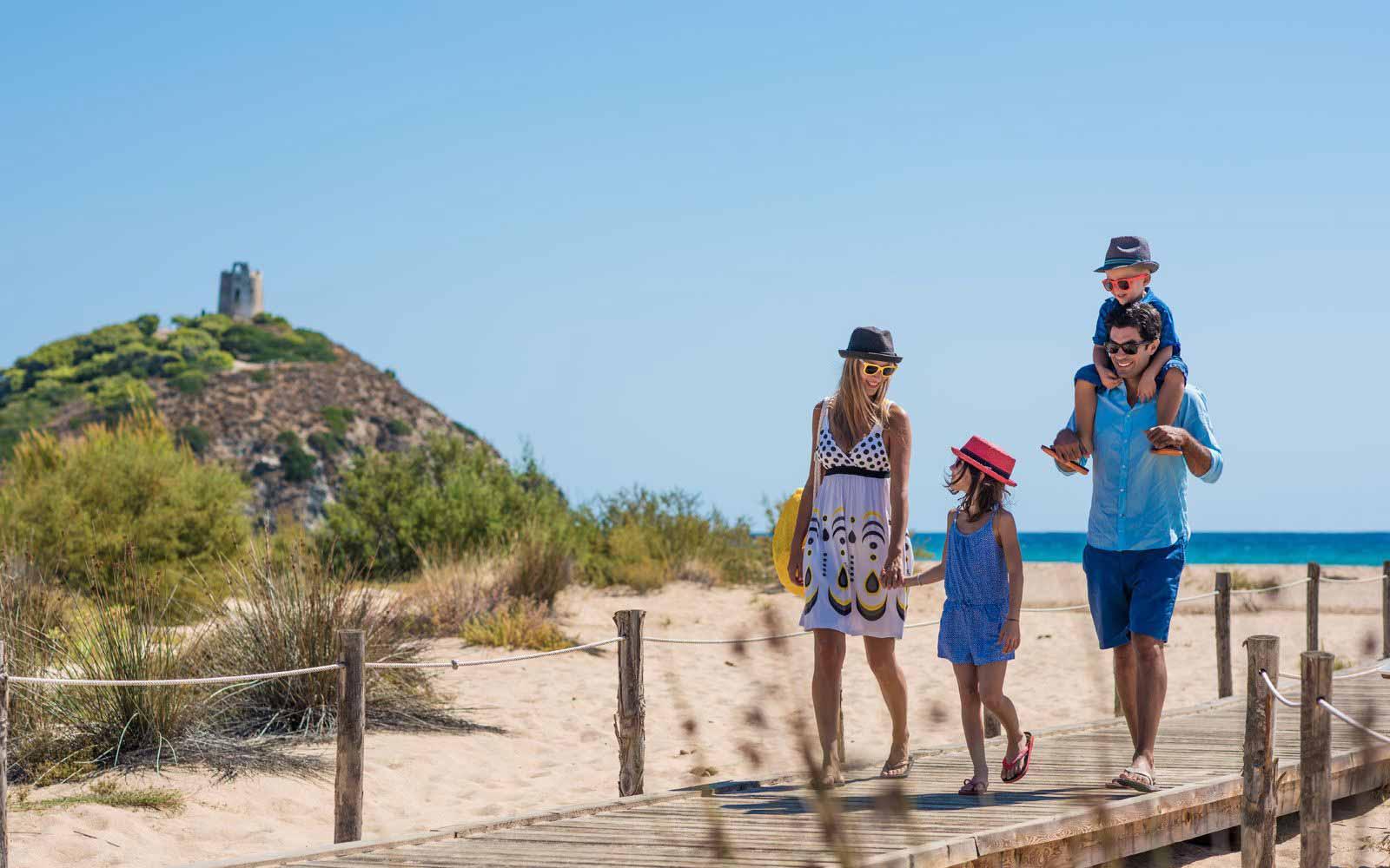 Families at the Chia Laguna Resort