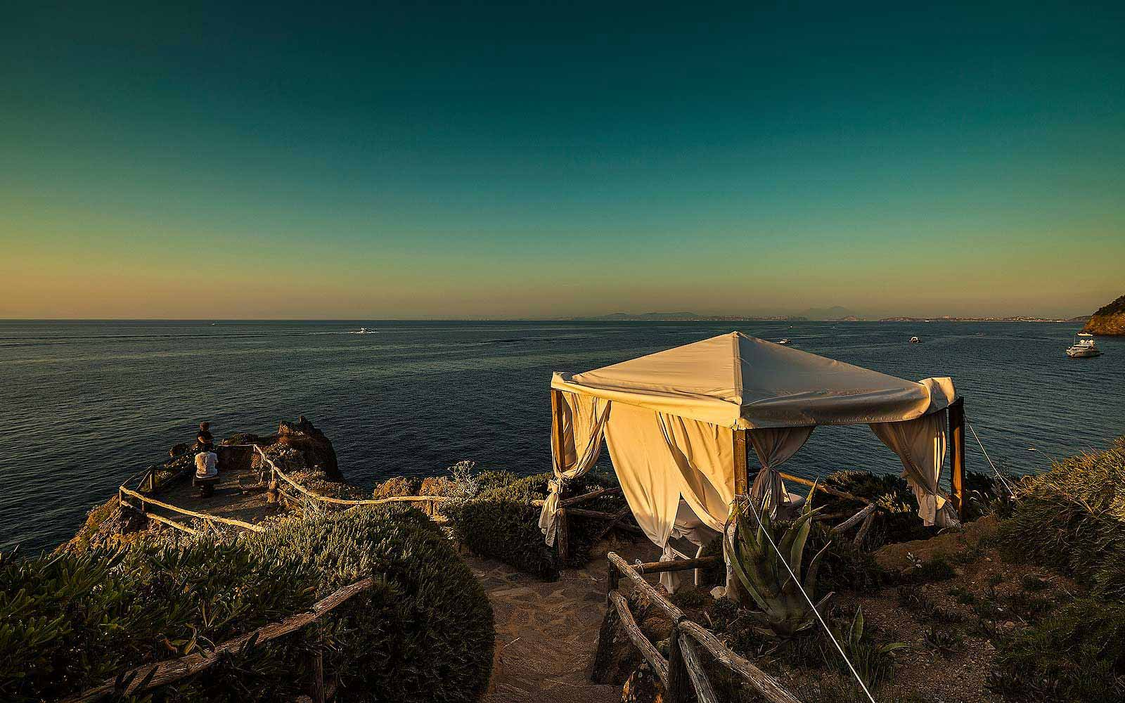 Outdoor Gazebo at Mezzatorre Resort & Spa