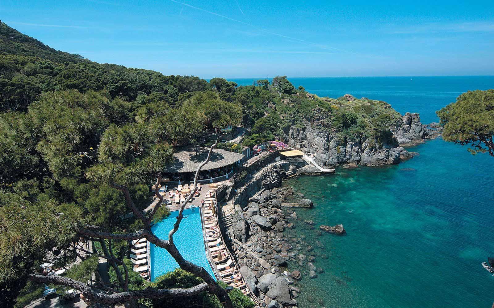 Panoramic view of pool at Mezzatorre Resort & Spa