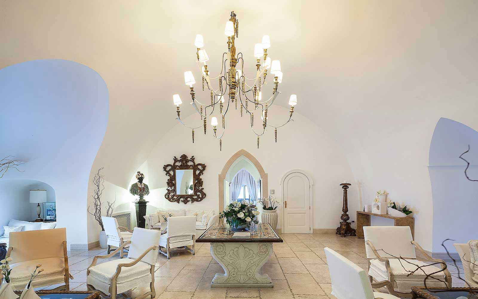 Lobby of the tower at Mezzatorre Resort & Spa