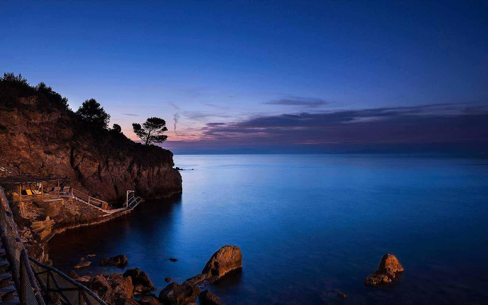 Private bay of the Mezzatorre Resort & Spa
