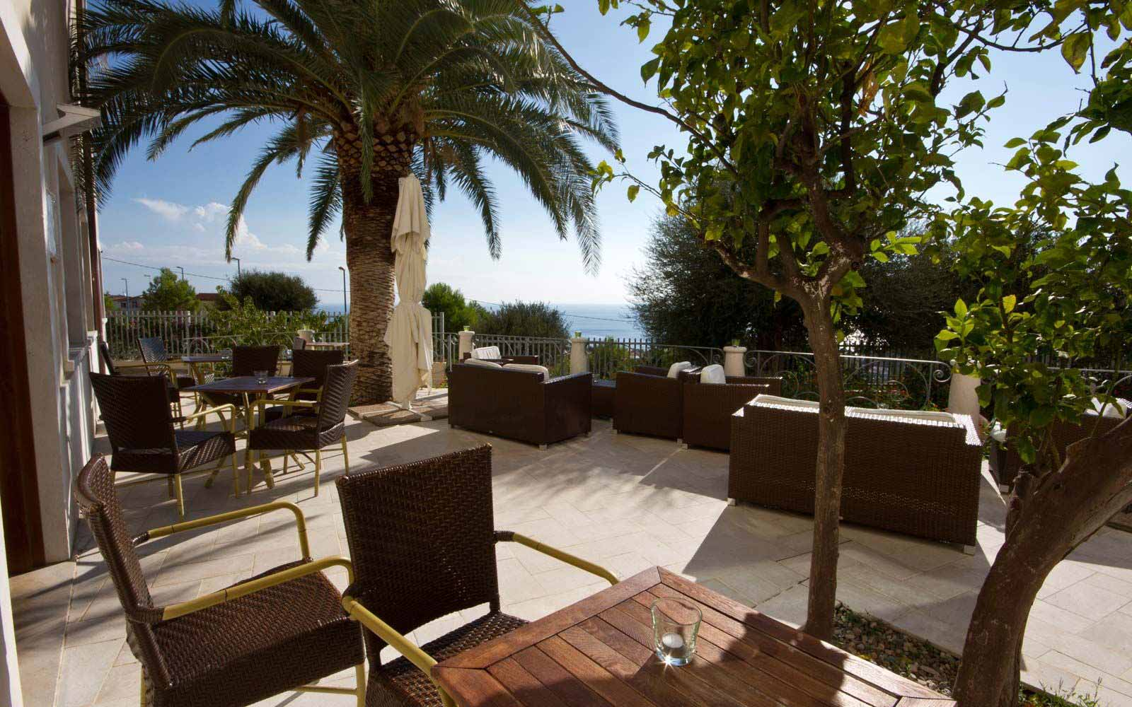 Sun terrace at Hotel Brancamaria